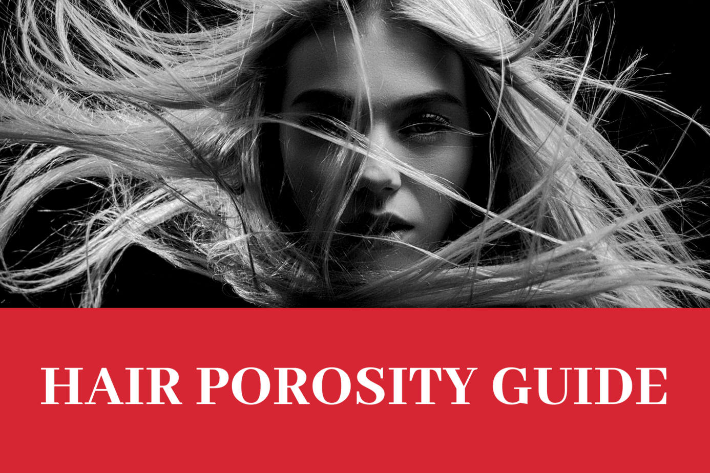 Girl picture with caption Hair porosity Guide