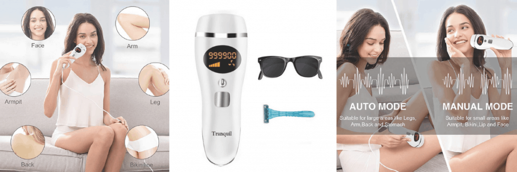 Tranquil hair removal handset